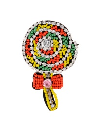 Fashion Multi-color Lollipop Shape Design Full Diamond Brooch