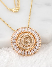 Fashion Gold Color G Letter Shape Decorated Necklace
