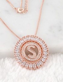 Fashion Rose Gold S Letter Shape Decorated Necklace