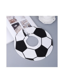Fashion Black+white Football Pattern Decorated Children's Bib