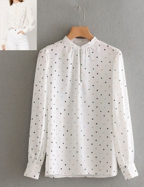 Fashion White Spot Pattern Decorated Shirt