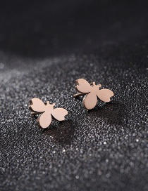 Fashion Rose Gold Bee Shape Decorated Earrings