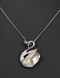 Fashion Silver Color Swan Shape Decorated Necklace