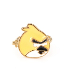 Fashion Yellow Chick Shape Decorated Ring
