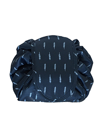 Fashion Blue Maple Leaf Pattern Decorated Storage Bag