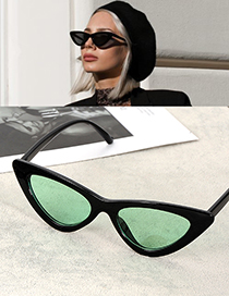 Fashion Green Cat Eye Shape Decorated Sunglasses