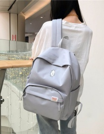 Fashion Gray Bear Pattern Decorated Backpack