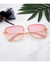 Fashion Red Bees Decorated Square Shape Glasses