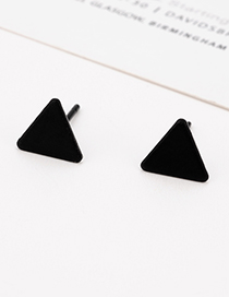 Fashion Black Triangle Shape Design Pure Color Earrings