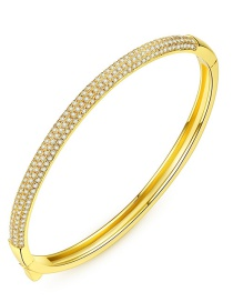Fashion Gold Color Diamond Decorated Multi-layer Bracelet