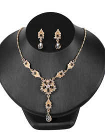 Fashion Black Flower Decorated Simple Jewelry Sets