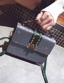 Fashion Gray Sequins Decorated Square Shape Bag