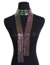 Fashion Multi-color Color Matching Design Flicker Scarf