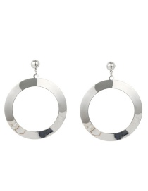 Fashion Silver Color Round Shape Design Pure Color Earrings