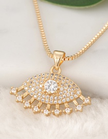 Fashion Gold Color Eyes Pendant Decorated Necklace