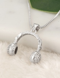 Fashion Silver Color Headset Pendant Decorated Necklace