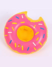 Trendy Pink Doughnut Shape Design Cup Holder