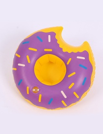 Trendy Purple Doughnut Shape Design Cup Holder