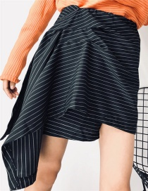 Fashion Black Stripe Pattern Decorated Dress
