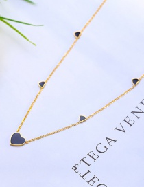 Fashion Blue Heart Shape Decorated Necklace