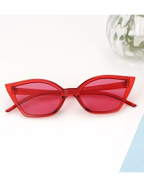 Fashion Claret Red Square Shape Design Glasses