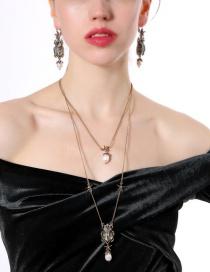 Fashion Gold Color Double Layer Design Necklace