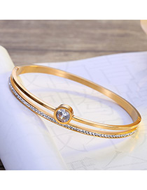 fashion Gold Color Round Shape Decorated Bracelet
