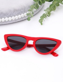 Fashion Red Oval Shape Design Simple Sunglasses