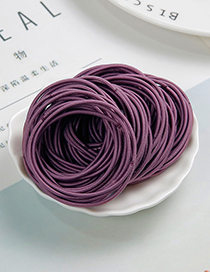 Lovely Dark Purple Pure Color Design Child Hair Band(around 100pcs)