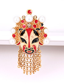 Fashion Gold Color Face Shape Decorated Ring