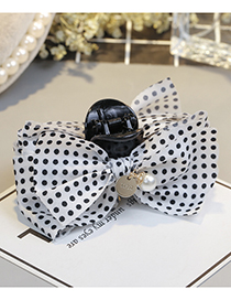 Fashion White Bowknot Shape Decorated Hair Clip