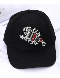 Fashion Black Scorpions Shape Decorated Baseball Cap