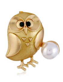 Fashion Gold Color Chicken Shape Decorated Brooch