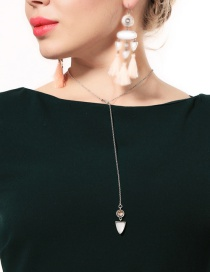 Fashion Silver Color Triangle Shape Decorated Necklace