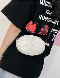 Fashion White Heart Shape Pattern Decorated Shoulder Bag