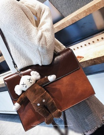 Fashion Brown Beer Doll Decorated Bag