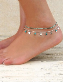Fashion Silver Color Round Shape Decorated Ankle Chain