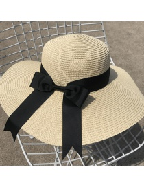 Fashion Beige Bowknot Shape Decorated Hat
