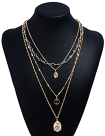 Fashion Gold Color Multi-layer Design Necklaces