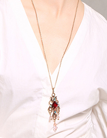 Fashion Red Hollow Out Design Necklace