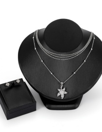 Fashion Silver Color Star Shape Decorated Jewelry Sets