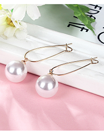 Fashion Gold Color Round Shape Decorated Earrings(1.2cm)