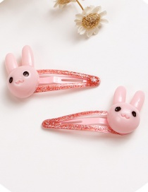 Lovely Pink Rabbit Shape Design Baby Hair Clip (2pcs)