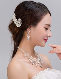 Fashion White Pearl Decorated Jewelry Sets