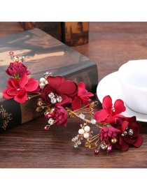 Fashion Red Flower Shape Decorated Hair Accessories