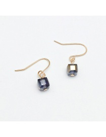 Fashion Purple Square Shape Decorated Earrings