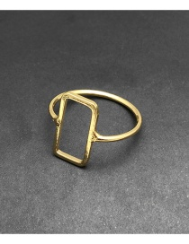 Fashion Gold Color Square Shape Decorated Ring