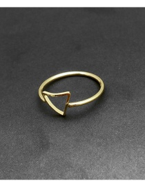 Fashion Gold Color Triangle Shape Decorated Ring