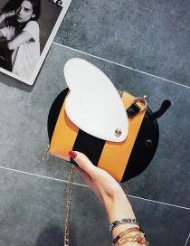 Lovely Yellow Cartoon Bee Shape Design Shoulder Bag