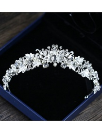 Fashion Silver Color Flowers Decorated Hair Accessories